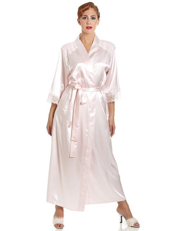 6806b2ccc5e ... French Knicker - Palomino Ivory £32.00; Jane Lace Trim Long Satin Robe  - Cadillac Pink ...