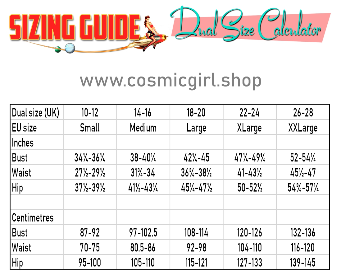 cosmicgirlsize guides dual