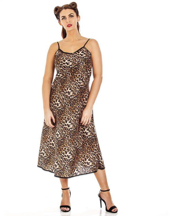 Panthera Leopard Print Classic Long Nightdress
