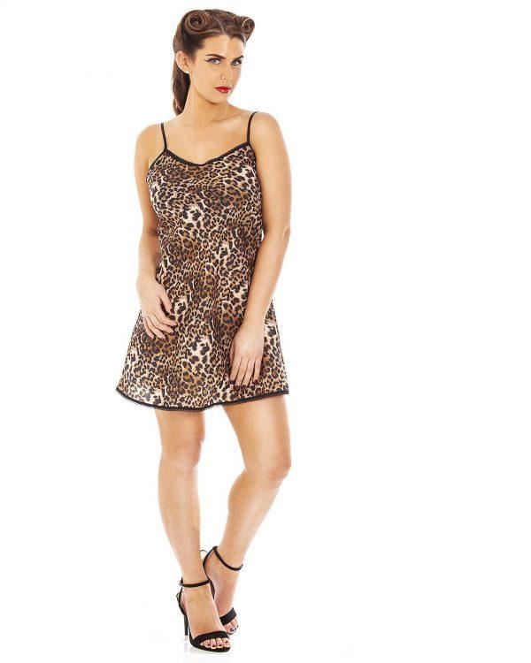Panthera Leopard Print Classic Short Nightdress